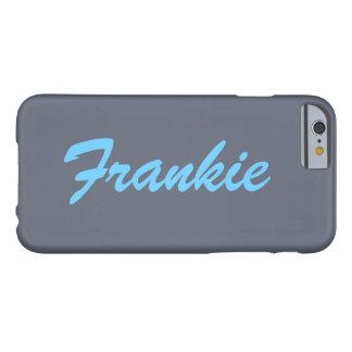 灰色および青の一流のモノグラムのiPhone6ケース Barely There iPhone 6 ケース