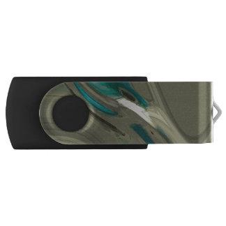 灰色および青の抽象美術 USBフラッシュドライブ