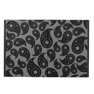 灰色および黒いペーズリー iPad AIRケース
