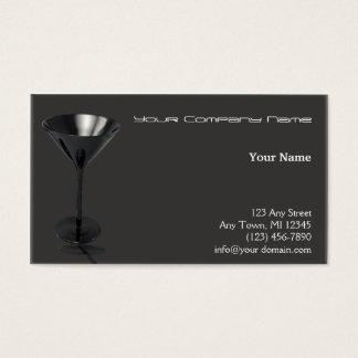 灰色および黒いマルティーニガラスビジネス 名刺