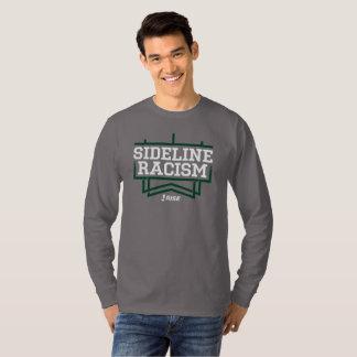 灰色か緑上昇のサイドラインの人種的優越感のTシャツの人 Tシャツ