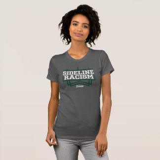 灰色か緑上昇のサイドラインの人種的優越感のTシャツの女性 Tシャツ