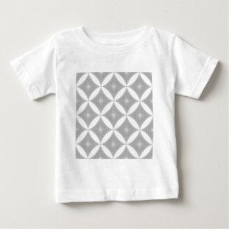灰色がか銀の抽象的な光学パターン ベビーTシャツ