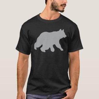 灰色くまの交差は野生の生命ヨーガ行者を捜すことを追跡します Tシャツ