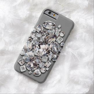 灰色で大切なダイヤモンド BARELY THERE iPhone 6 ケース