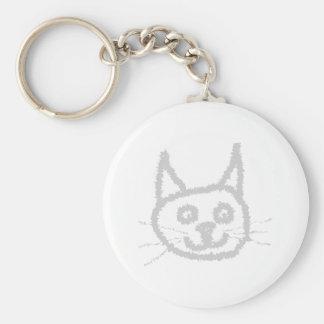 灰色のかわいい猫 キーホルダー