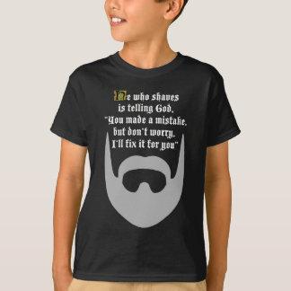 灰色のひげ Tシャツ