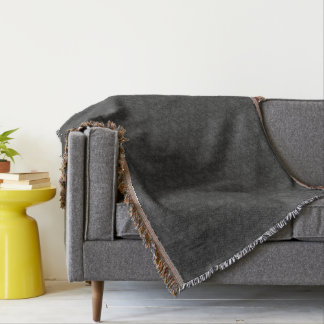 灰色のアヤメのパターンによって編まれるブランケット スローブランケット