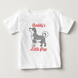 灰色のアラスカンマラミュート ベビーTシャツ
