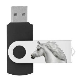 灰色のアラビアの馬USBのフラッシュドライブ USBフラッシュドライブ