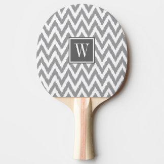 灰色のイカットのシェブロンのモノグラムの卓球ラケット 卓球ラケット