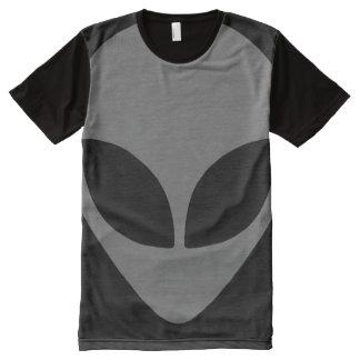 灰色のエイリアン オールオーバープリントT シャツ