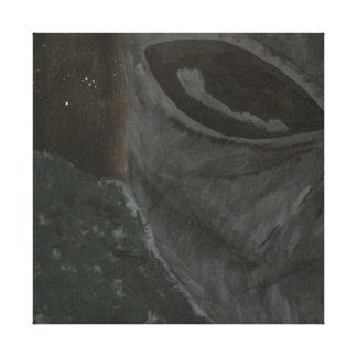 灰色のエイリアン キャンバスプリント