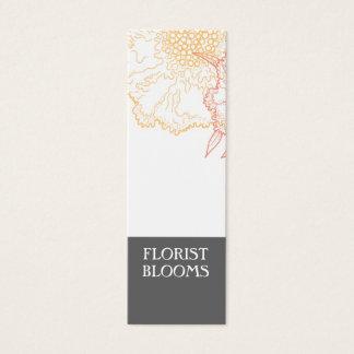 灰色のオレンジ赤のモダンな花屋プロダクトタグ・カード スキニー名刺