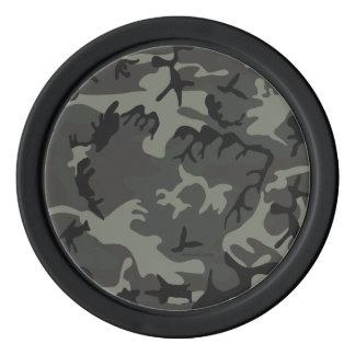 灰色のカムフラージュのポーカー用のチップ ポーカーチップ