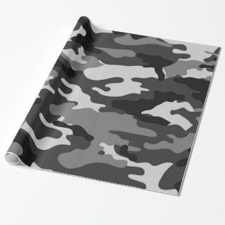 灰色のカムフラージュ|の包装紙 ラッピングペーパー