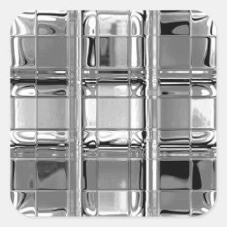 灰色のガラスモザイクのステッカーの陰 スクエアシール