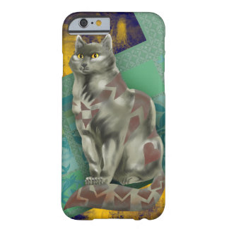 灰色のキルト猫 BARELY THERE iPhone 6 ケース