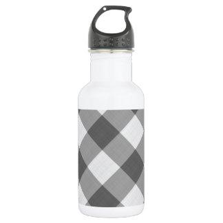 灰色のギンガム ウォーターボトル