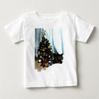 灰色のクリスマス ベビーTシャツ