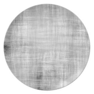 灰色のグランジな織り目加工 プレート