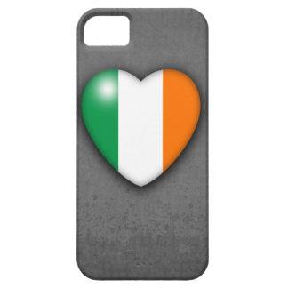 灰色のグランジな背景のアイルランドのハートの旗 iPhone SE/5/5s ケース