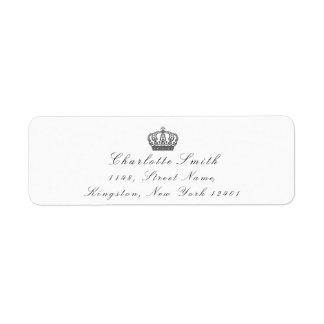 灰色のグリッターRSVPの皇太子妃の花嫁の白 ラベル