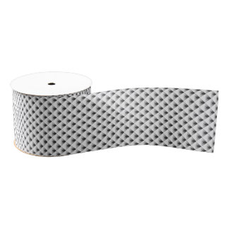 灰色のコンパートメントデザイン… グログランリボン
