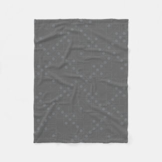 灰色のサイコロ フリースブランケット
