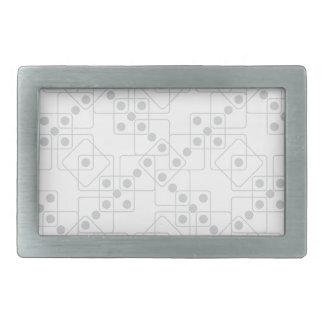 灰色のサイコロ 長方形ベルトバックル