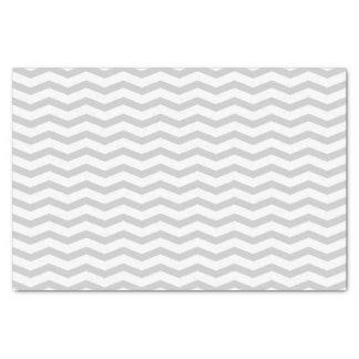 灰色のシェブロンパターン結婚祝いのティッシュペーパー 薄葉紙