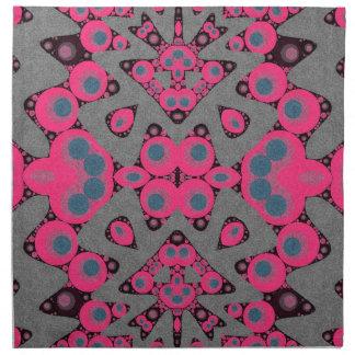 灰色のショッキングピンクの抽象芸術 ナプキンクロス