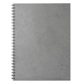 灰色のスエード ノートブック