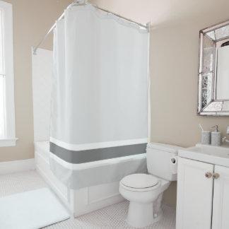 灰色のストライプなシャワー・カーテン シャワーカーテン