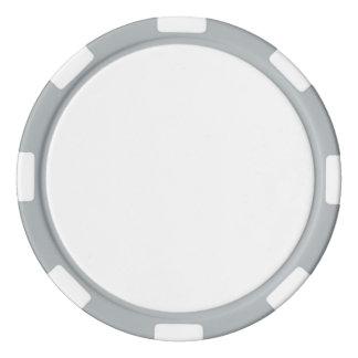 灰色のストライプのな端が付いているポーカー用のチップ ポーカーチップ
