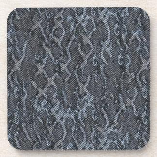 灰色のスネークスキン コースター