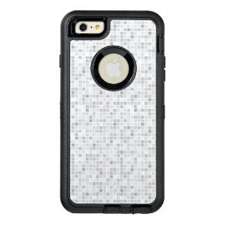 灰色のタイルパターン オッターボックスディフェンダーiPhoneケース