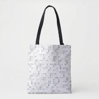 灰色のタイルパターン トートバッグ