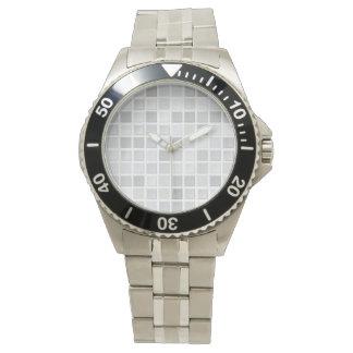 灰色のタイルパターン 腕時計
