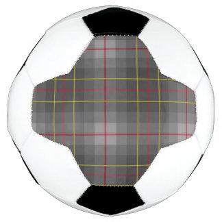 灰色のタータンチェックのサッカーボール サッカーボール