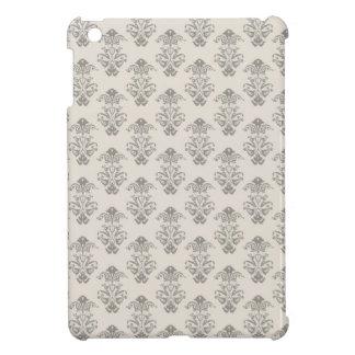 灰色のダマスク織のヴィンテージの素朴なプリント iPad MINI カバー