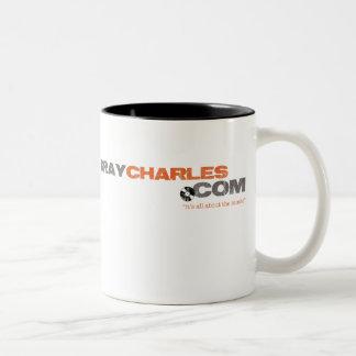 灰色のチャールズ-マグ ツートーンマグカップ