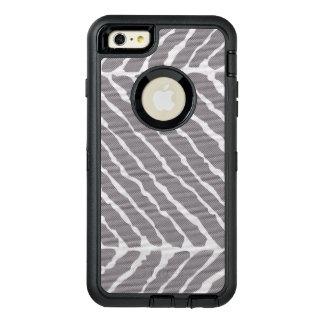 灰色のトラのストライプなキャンバスの一見 オッターボックスディフェンダーiPhoneケース