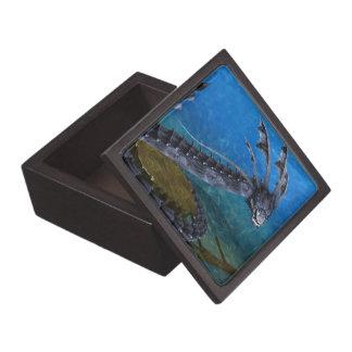 灰色のドラゴンの記念品箱 ギフトボックス