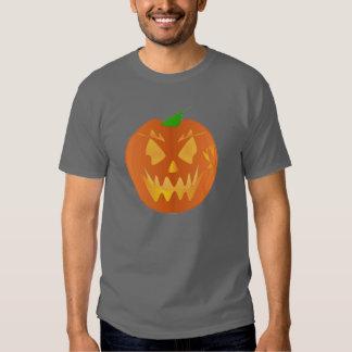 灰色のハロウィンのカボチャ TEE シャツ
