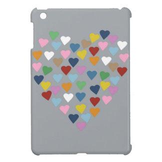 灰色のハートのハート色 iPad MINIカバー