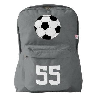 灰色のバックパック: サッカー AMERICAN APPAREL™バックパック