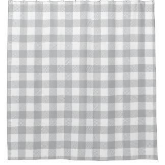 灰色のバッファローの格子縞のチェック模様のパターン シャワーカーテン