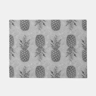 灰色のパイナップルパターン玄関マット ドアマット