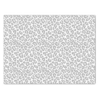灰色のヒョウのプリント 薄葉紙